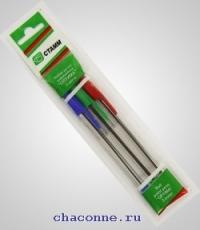 Ручка шар 3 цв набор Оптима Стамм РО06